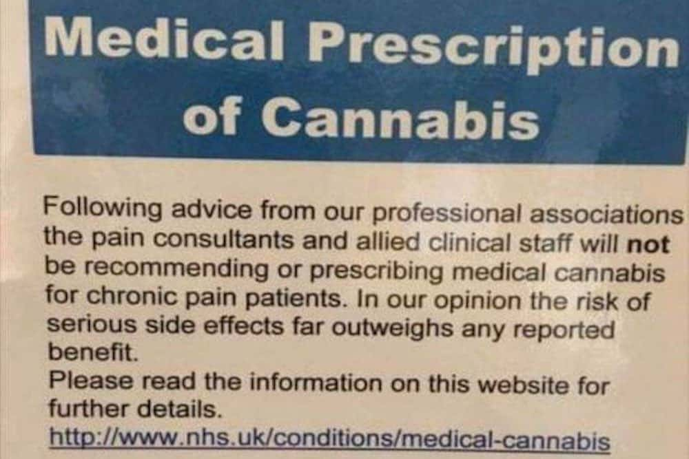 UK's NHS Will Not Prescribe Medical Cannabis to Those in Chronic Pain