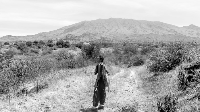 Priscilla Hiking Mountain View Fogo Cabo Verde