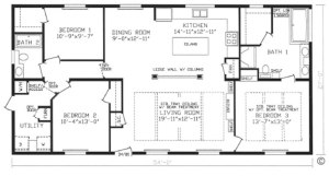 1458 Sq. Ft. of living space. 3 bedrooms, 2 baths. Stainless Steel Kitchen. Soaker Tub in Master. Built-ins. All Appliances included. Price Includes delivery, set-up, & all existing utility hook-ups!!!