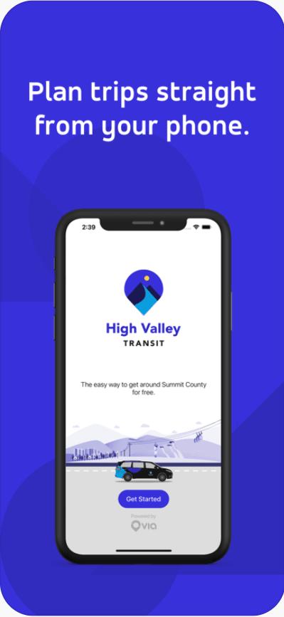A screenshot of the HVT app homescreen