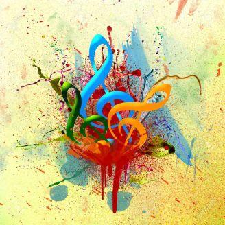 9133011-Bunte-musikalische-Aquarell-Hintergrund-Lizenzfreie-Bilder