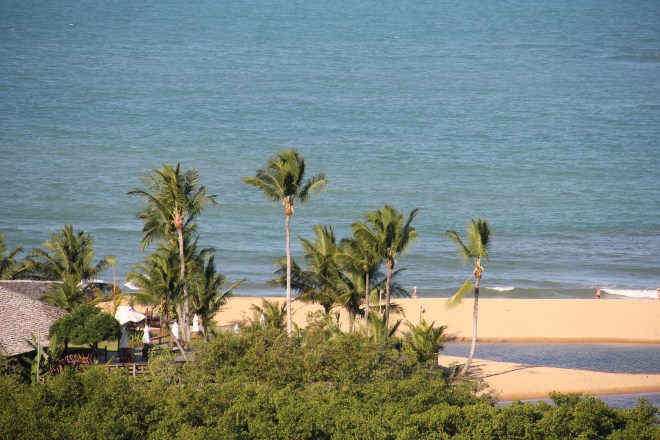 Beach at Troncoso village in southern Bahia - Brazil / highway brazil