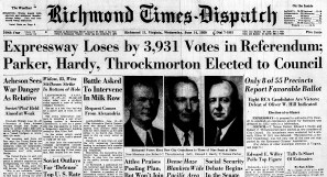 june 14 1950- Expressway loses by 3931 votes-Front Page Banner