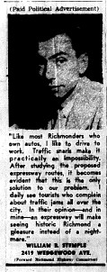 june 7 1950-like most richmonders-Ad in favor
