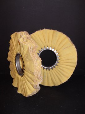 Open Faced Cloth and Sisal Buffing Wheel