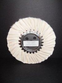 "8"" Medium/Light Untreated White Buffing Wheel"