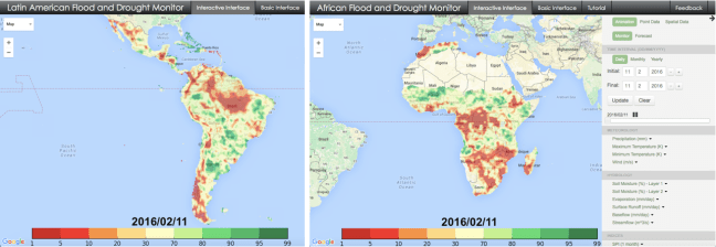 Latin American and African Drought Monitors developed at Princeton University