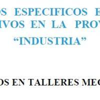 TRABAJOS EN TALLERES MECÁNICOS - RIESGOS ESPECÍFICOS