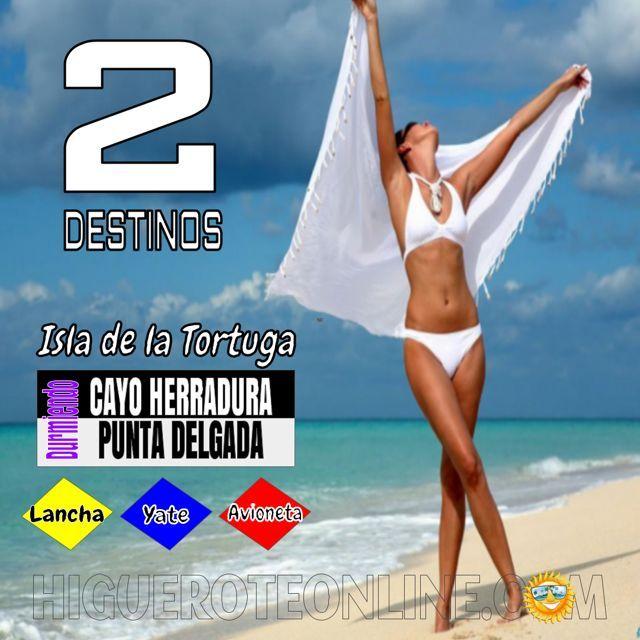 2 Destinos Cayo Herradura y Punta Delgada en la Isla de la Tortuga