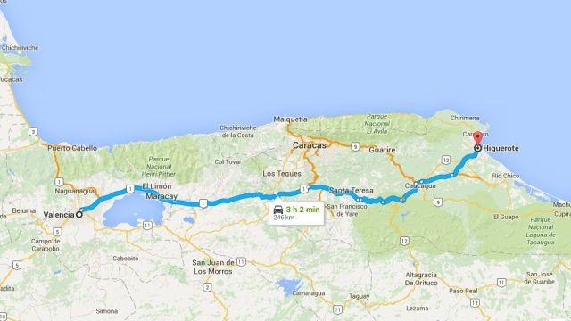 Cómo llegar desde Valencia a Higuerote