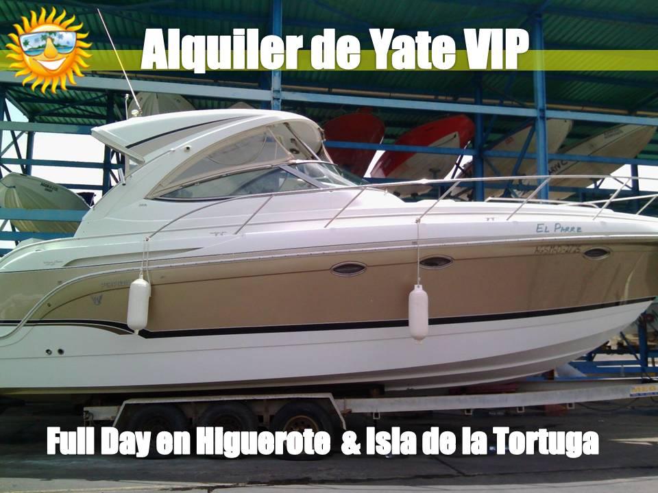 Alquiler de Yate Privado para Paseos de Full day en Higuerote y Viajes a la Isla de la Tortuga