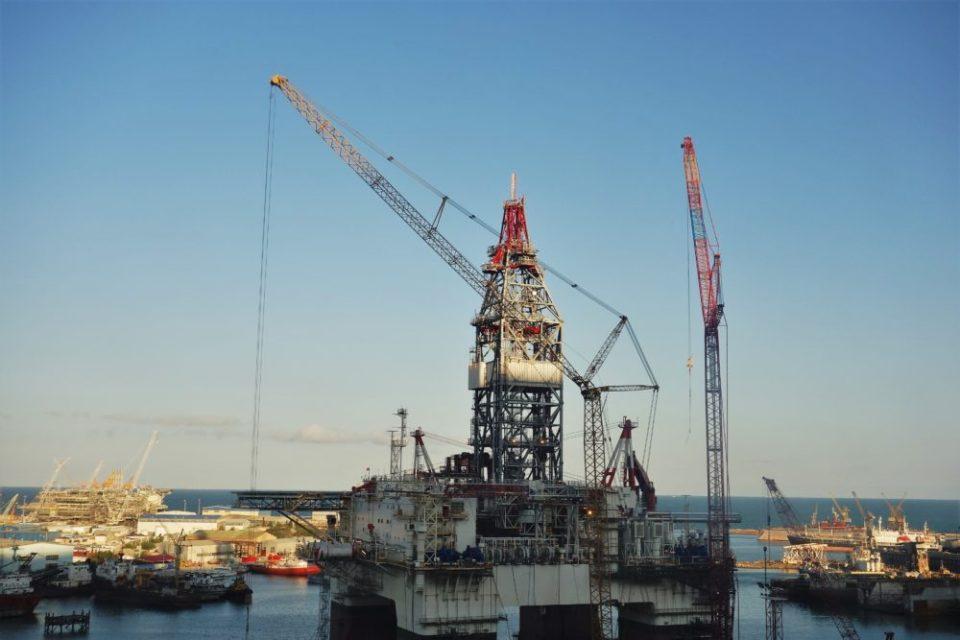 Oil wells, oil platforms, oil wells, oil platforms, oil wells...