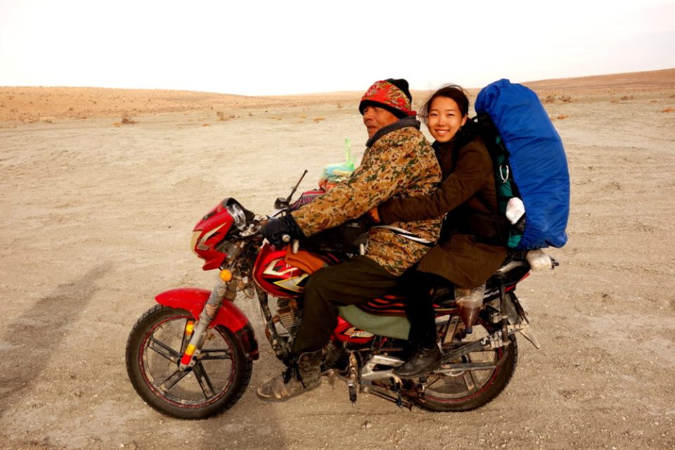 Haruka from Japan takes the ride back with Mr. Nomad