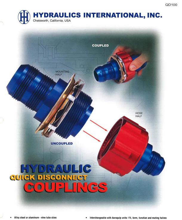 QD100 SERIES Hydraulic Quick Disconnect Couplings (QDC)