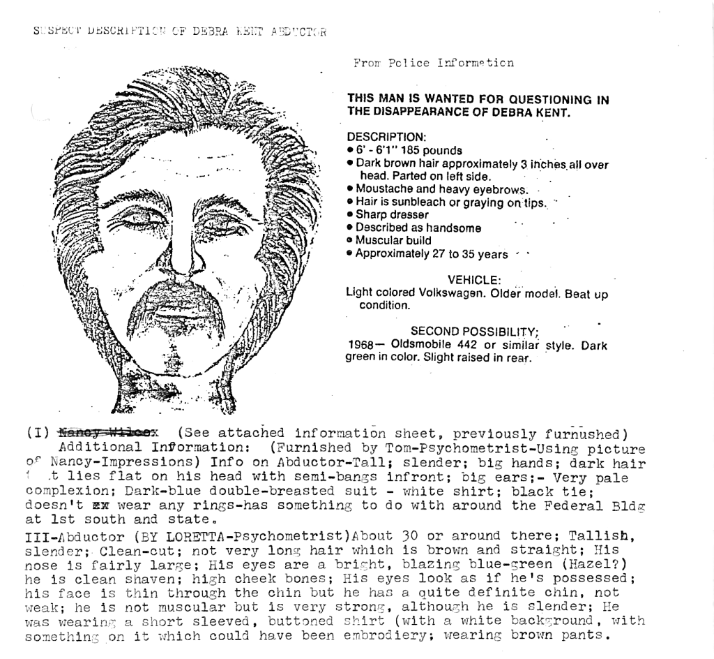 Ted Bundy suspect composite sketch psychic