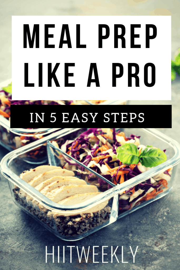Learn how to meal prep with these 5 steps to meal prep for beginners. Start losing weight fast.