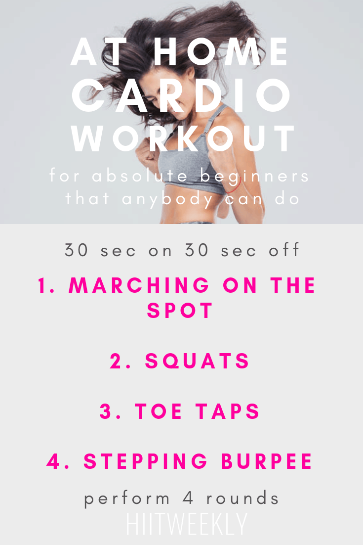 Blitz fat and get fit fast with this at home cardio HIIT workout designed for absolute beginners with no equipment. Perfect if you are new to working out at home and need a little guidance to get you started on your fitness and weight loss journey.