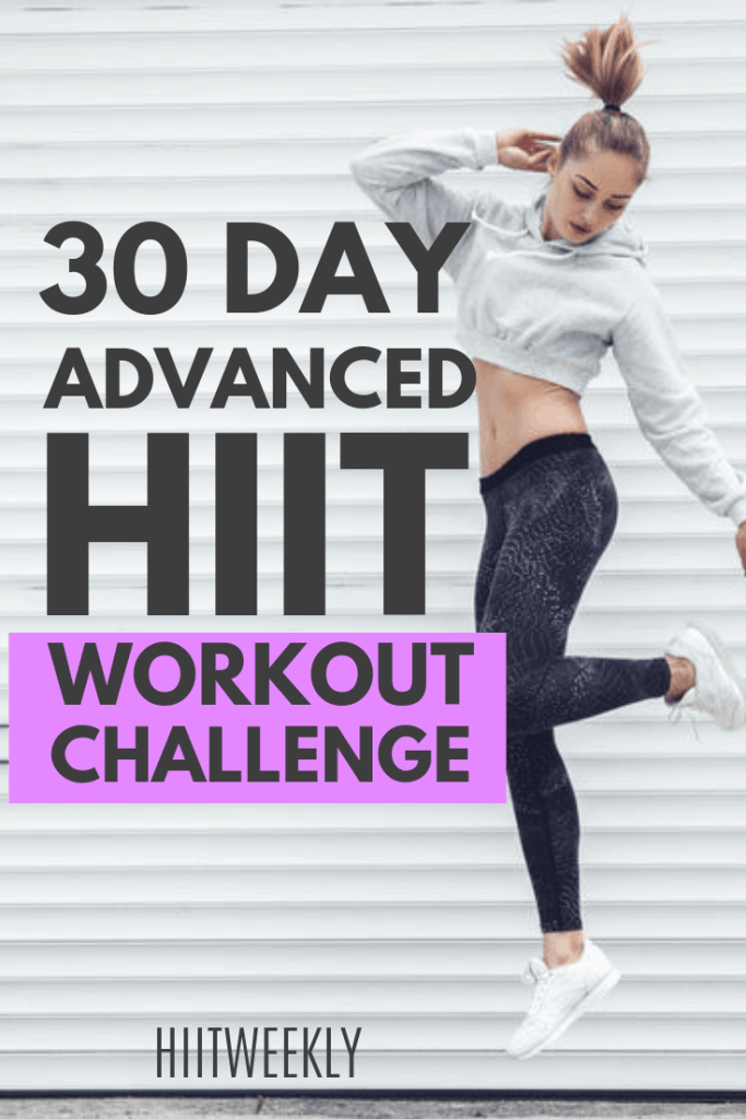 Do this advanced 30 day workout challenge at home for crazy fast results. This 4 week workout plan gives you a full body workout with no equipment needed!