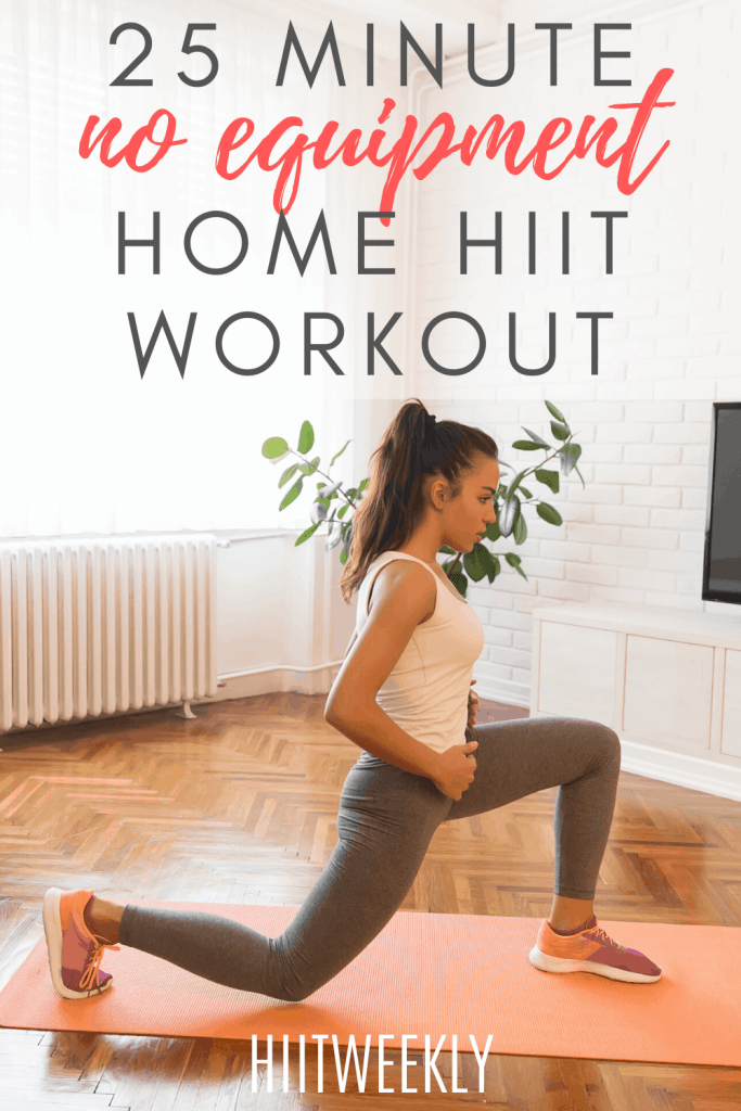 This no equipment workout plan will get you hot sweaty and energised for the day. #HIITWORKOUT #HIIT #WORKOUTS
