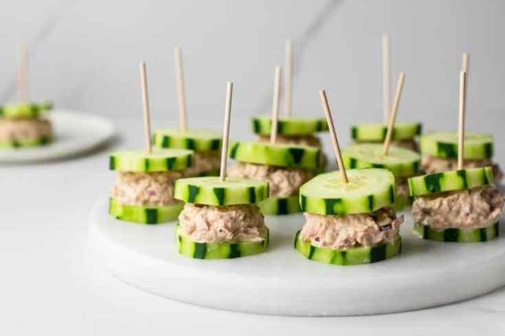 Tuna Cucumber Sandwiches
