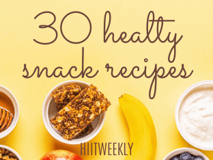 The best healthy snack recipes to help you eat better and lose weight.