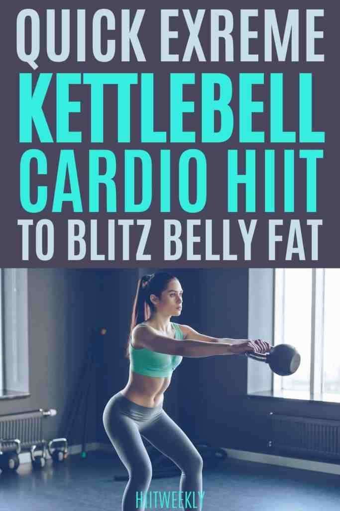This extreme kettlebell cardio workout will get you hot swetay and burning belly fat like crazy.