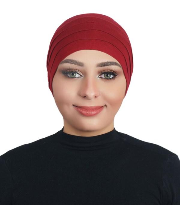 Under Scarf Bonnet K1001 - Red