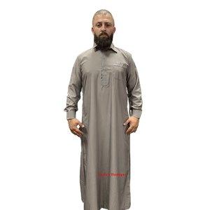 Men Bisht Arabic Dress Cloak Islamic Thobe