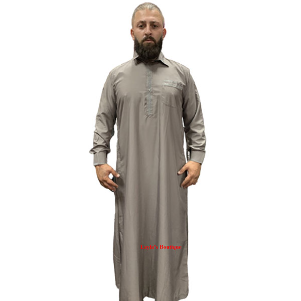 Men's Arab thoub Cotton blend Both Side Pockets, with pants