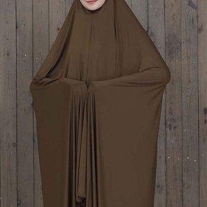 Solid Slip On Abaya Dress - Brown