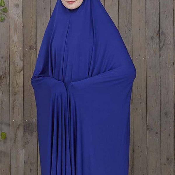 Solid Slip On Abaya Dress in Royal