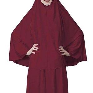Everyday 2pcs Skirt & Hijab Set - Burgundy