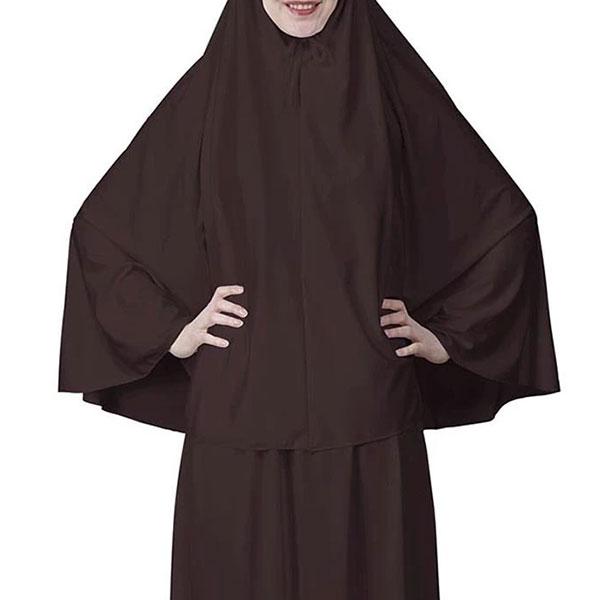 Everyday 2pcs Skirt and Hijab Set - Coffee