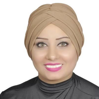 Turban Headband Lady Muslim Head Hijab Turban Wrap Cover Cotton Spandex Blend – Brown
