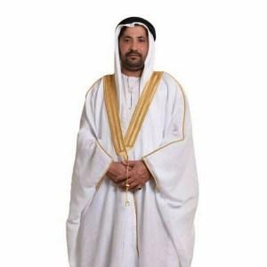 mens bisht cloak - White and gold