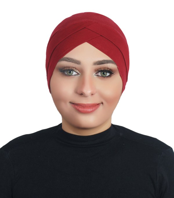 Two Pieces Cotton Al Amira Hijab - Red