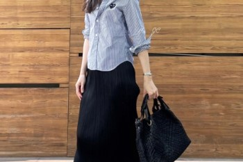 [日常穿搭] Comme des Garçons Play襯衫+Pleats Please Issey Miyake裙+Golden Goose小髒鞋+義大利Mirta包包