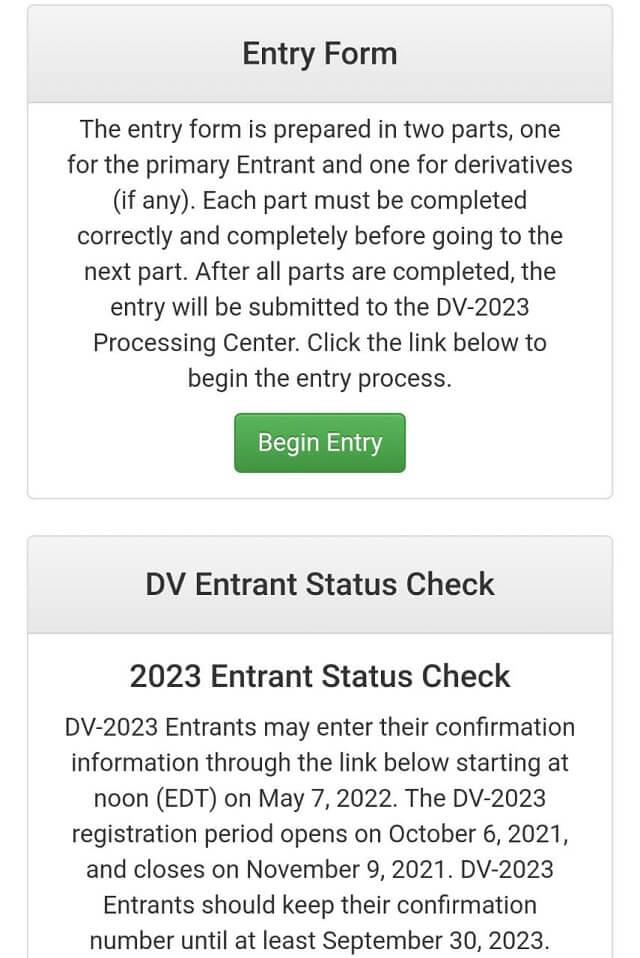 موقع التسجيل في قرعة امريكا 2023