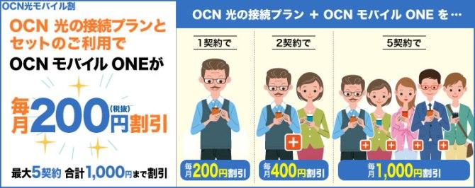 OCNモバイルセット割