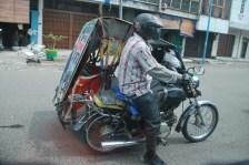 becak motor, local vehicle.