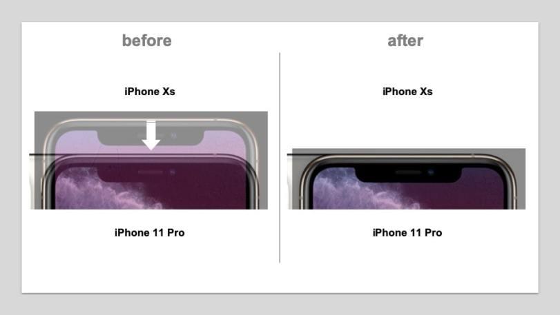 iPhone11ProとXSの画面のサイズは同じ?同じフィルムは使える ...