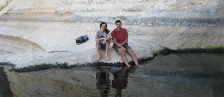 Resting at Ein Akev Pool, Negev Desert, Israel