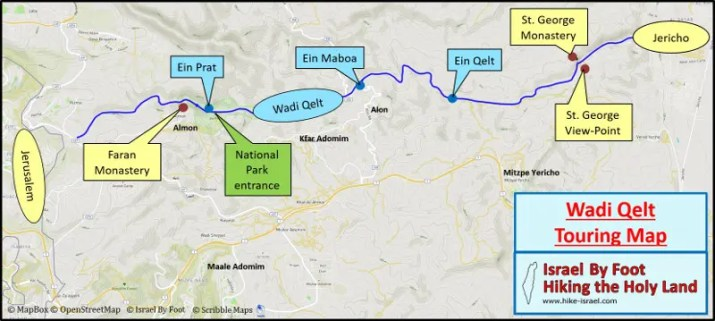 Touring Map of Wadi Qelt