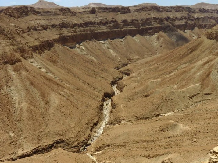 A view down to Zeelim canyon from the top of the Naama trail