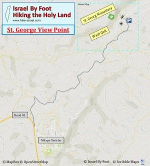 St. George monastery in wadi qelt driving map