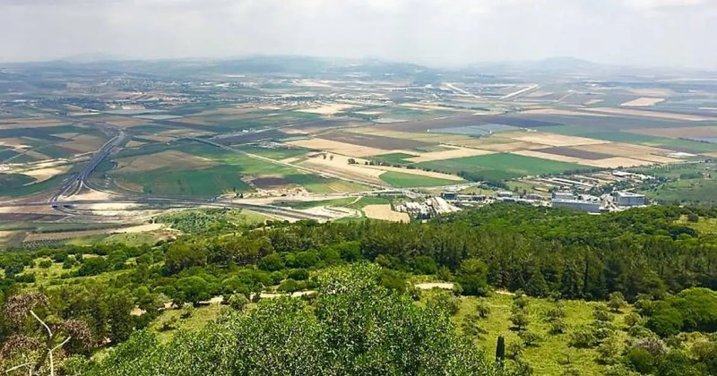 The view from Muhraka, Mount Carmel, Israel