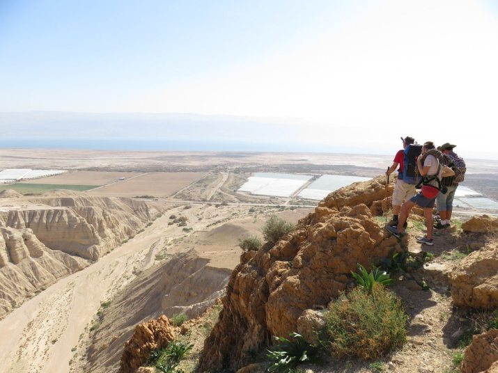 Dead sea from the cliffs above qumran
