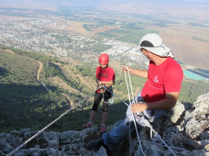 Rappelling Manara Cliff Israel