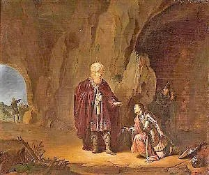 Saul and David in the cave in Ein Gedi