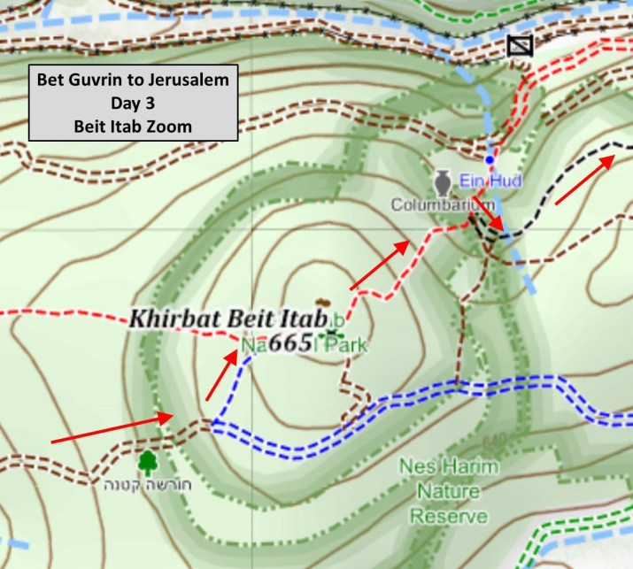 Sample Hiking Map